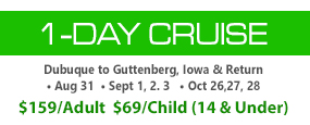 Saturday, May 31 • 1-Day Cruise